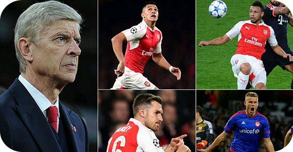 Arsenal on international break